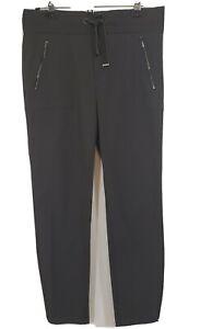 Athleta Headlands Hybrid Pant Size 12 Gray Pull On Tapered Stretch #383899-02