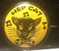 """1940s HEP CAT WW2 Era Rockabilly Pinup Art 3/4"""" Pinback Button"""