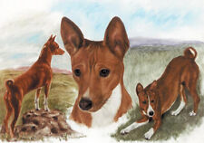 More details for basenji congo hound dog fine art limited edition print
