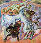 ANDRE MASSON Corrida Mythologique (1936) (52x50cm), CANVAS, POSTER FREE P&P