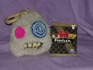 Fuggler GRAY Funny Ugly Monster with Teeth Back Pack /  Keychain Clip On Plush