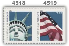 4518-19 4519a Forever Lady Liberty & Flag ATM Attached Pair 2011 MNH - Buy Now