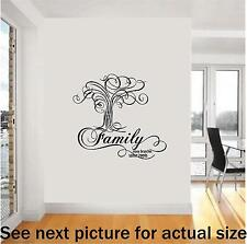 Family The Essence of Life Wall Decal Living Dining Room Love Removeable F18