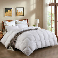 Luxury White Goose Down Comforter Duvet Insert King Size,Fluffy and Comfortable