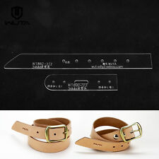 WUTA Leather Belt Template Clear Acrylic Leather Pattern Craft tool 892-34