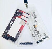 Large Plastic Ticket Holder Wallet Pass F1 MotoGP Le Mans 22 x 10cm For Lanyard