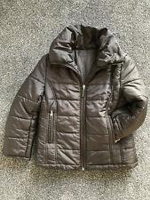 HOBBS Ladies Brown Padded Puffa Jacket Petite Sleeves Zipped Pockets Size 10