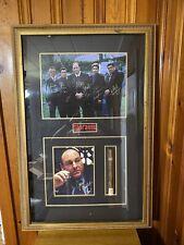 The Sopranos Autographed James Gandolfini And Cast Framed Photos & Cigar