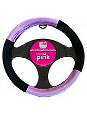 Simply Pink Car Vehicle Steering Wheel Cover Grip 37-39cm