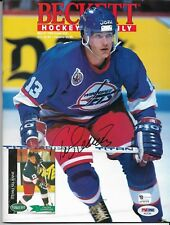 March 1993 Issue Of Beckett Hockey Signed By Teemu Selanne Psa/Dna Certified