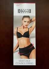 NEW Wolford Velvet Lace Control String Size M Cream Tan