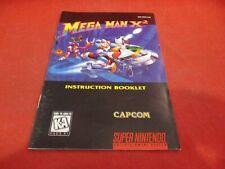 Mega Man X2 Super Nintendo SNES Instruction Manual Booklet ONLY