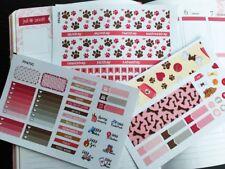 PP470 -- Pink Dog Lovers Monthly Kit Life Planner Sticker Erin Condren 3 pcs