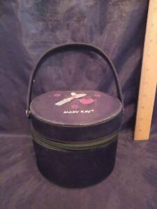 """Mary Kay Round Shape Cosmetic Bag Case 4 1/2"""" Tall"""