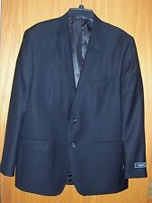 "Men's ""CHAPS"" blazer/sport coat black pin striped size 44 regular NWT $220.00"