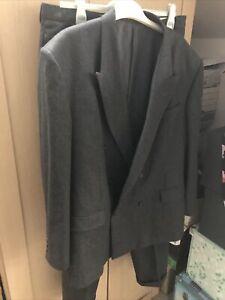 Reiss Mens Italian Suit Cerruti 1881 Italian Cloth Charcoal 44-46 Chest: W36 34L