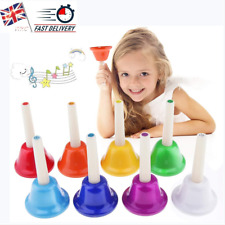 More details for colorful musical instrment hand bell 8 note musical toy for kids early education