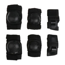 Outdoor Adult/Child Knee Elbow Wrist Pads Guard Skating Scooter Black, S