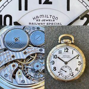 950B RailRoad hamilton pocket watch 23 Jewels Railway Special Double Sunk Dial