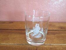 Imported Black Velvet Canadian Whisky Bar Glass Frosted White Bear Logo
