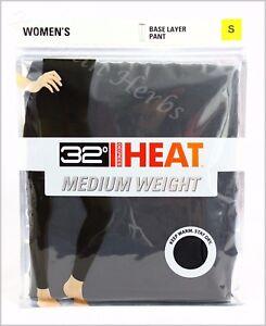 Women's 32 Degree HEAT Medium Weight Base Layer Pant New Free Shipping Black