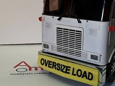 1/14 Truck  or Trailer 'Oversize Load' Flag / Banner, Tamiya Trailer or Truck