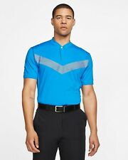 New Nike Golf Tiger Woods Cooling Vapor Blade Polo BV0501 406 Photo Blue L