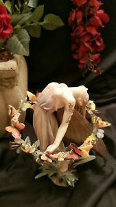 """Sheila Wolk """"The Garland"""", Dragonsite Fairy Figurine.  Numbered LE, Retired."""