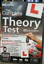The Complete Theory Test 2012 (UK) Edition PC CD ROM - FREE POST
