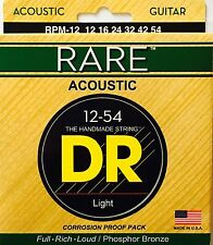 DR RPM-12 Acoustic Guitar Strings 12-54 Rare Medium