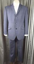 Marks & Spencer Slim Fit Black White Fisheye Check Grey Suit C42M W38 L30