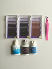 KIT EYEBROW Extensions + Glue + Tweezer + primer + remover