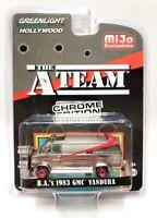 "Greenlight 1/64 The A-Team"" BA's 1983 GMC Vandura Chrome Edition Chase Car 51225"