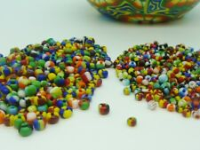 60g Opaque Colours Seep Glass Seed Beads Size Mix of 6/0 & 8/0 Jewellery Making