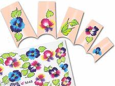 Nail Art Wasser Tattoo Aufkleber für Nageldesign M48 Blumen für Nageldesign