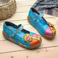 SOCOFY RETRO COLOURFUL LEATHER SHOES SIZE 38 BRAND NEW WITH BAG