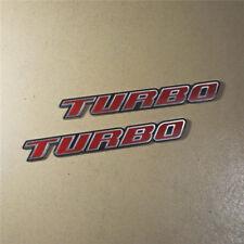 2PCS Ya TURBO Plastic Badge Emblem Sticker Decal Charged Sport Logo tsi Design