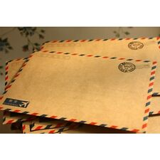 10 Hot Beautiful Coffee kraft Air Mail Envelope Letter Stationary Paper