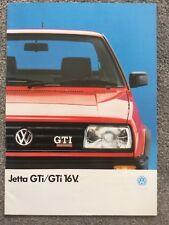 VW Jetta GTi & GTi 16v brochure October 1989 in Very Good condition