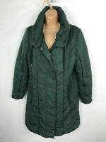 WOMENS KLASS GREEN ZIP UP SOFTSHELL PADDED QUILTED WINTER COAT JACKET SMALL S