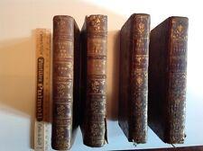Livres anciens, Histoire de Tom Jones, tome 1 et 4 de 1750 et t. 3 et 4 de 1751
