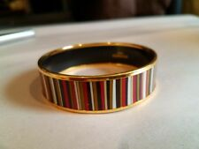 """Carioca Bangle 8.25"""" Authentic Hermes Gold-Plated Multi-Color"""