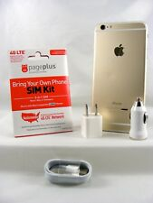 Apple iPhone 6 Plus - 64GB Gold(Page Plus 4G LTE Nano SIM Card with Accessories)