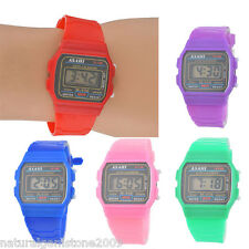 New Fashion Bracelet Sport Candy Color Silicone Strap Women Quartz Watch