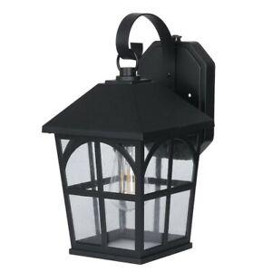 Honeywell, 800 Lumen Outdoor Wall Coach Lantern Dusk-to-Dawn LED Filament Bulb