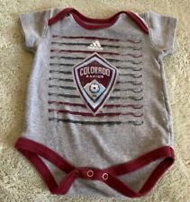 Adidas Colorado Rapids Soccer Gray Burgundy Short Sleeve One Piece 0-3 Months
