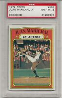 1972 TOPPS #568 JUAN MARICHAL, IN ACTION, PSA 8 NM-MT, HOF, SAN FRANCISCO GIANTS