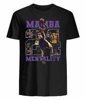 Kobe Bryant Mamba Mentality 24 T-Shirt, Gift Ideas, Size: S - 4 XL