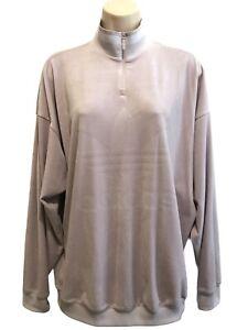 Adidas Women's Loose Boyfriend Fit Velvet Zip Sweatshirt ~ Size M