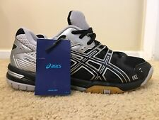 Asics Gel-Rocket 6, B257N, Black / Silver, Women's Volleyball Shoes, Size 10.5